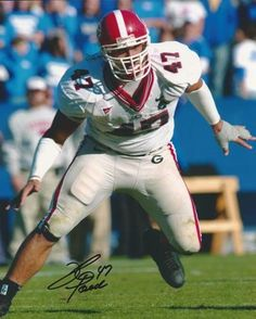 David Pollack Georgia Bulldogs Autographed - 8x10 Photo - Former 3x All American