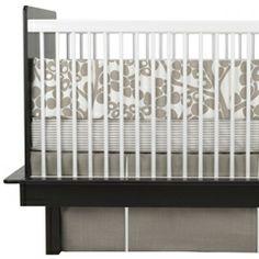 Oilo Crib Bedding Set Modern Berries Taupe OIOLBER3TA
