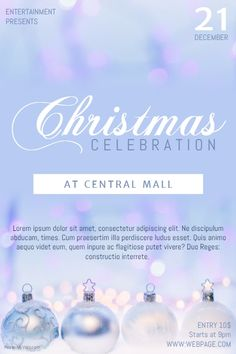 sweet light free christmas celebration party flyer template postermywall