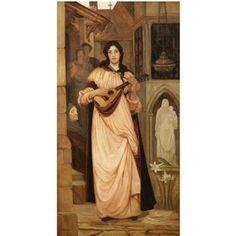 Kate Elizabeth Bunce (1858-1927), Η αοιδός. 1890.  Ιδιωτική Συλλογή. Figurative Art, History, Mythology, Lovers, Painting, Historia, Painting Art, Paintings, Painted Canvas