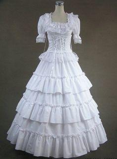Anime Victorian Ball Dresses