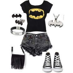 batman by tris-eaton46 on Polyvore featuring Converse and Zara