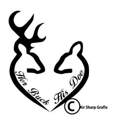 Download Browning Love Heart Deer Buck and Doe vinyl decal | wood ...