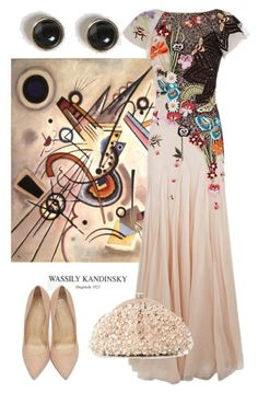 """""""Inspired by Kandinsky"""" by dundiddit ❤ liked on Polyvore featuring Dorothy Perkins, Temperley London, Charlotte Olympia, Santi, contestentry and kandinsky"""