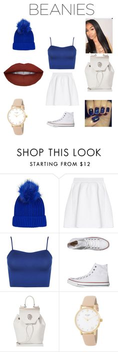"""""""Simple 💧"""" by mia0424 ❤ liked on Polyvore featuring Topshop, malo, WearAll, Converse, Philipp Plein and Kate Spade"""