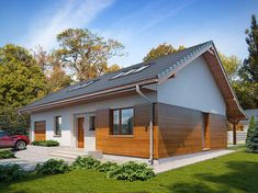 Projekt domu Gaja 3 (TRY-622) - 134.13m² Rio 2, House Colors, Tiny House, Garage Doors, Colours, Outdoor Decor, Home Decor, The World, Houses