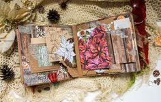 Wintry handmade photo album by Maria Lillepruun