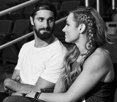 """WWE Superstars Seth Rollins (Colby Lopez) with his girlfriend """"The Man"""" Becky Lynch (Rebecca Quin) spending time together before the 2019 Money In The Bank PPV at the XL Center in Hartford, Connecticut. The couple have been dating since March. Wwe Seth Rollins, Seth Freakin Rollins, Becky Lynch, Wwe Money, Becky Wwe, Wwe Couples, Celebrity Couples, Rebecca Quin, Wwe Champions"""