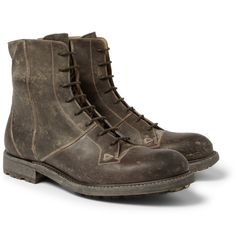 O'KeeffeCormac Washed-Leather Boots|MR PORTER