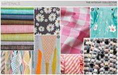 KEY FABRICS. Printed Vinyl, Breezy Chiffon, Lightweight Cotton, Waterproof Vinyl, Restructured Tweed, Seersucker, Openwork Cotton, Lightweight Linen