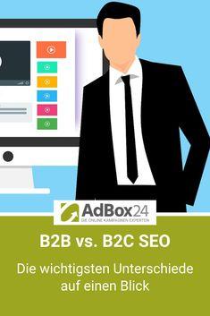 B2B vs. B2C SEO - Längere Customer Journey, Keywords mit geringerem Suchvolumen, .... Die wichtigsten Unterscheide auf einen Blick. B2c, Performance Marketing, Online Marketing, Journey, Target Audience, Helpful Tips, Challenges, Tutorials, Internet Marketing