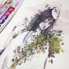 Audra Auclair <<<This is gorgeous. The drawing style, stunning
