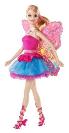 Barbie A Fairy Secret Doll by Mattel. $14.25. From the new movie Barbie A Fairy Secret. Barbie is a beautiful Fairy and a Movie Star. Share the fairy fun with Barbie A Fairy Secret Doll. Act out your favorite scenes from the movie. Has beautiful glittery butterfly inspired wings, pearl necklace, and fashionable shimmery dress. From the Manufacturer                Barbie A Fairy Secret Doll: From the movie Barbie A Fairy Secret, Barbie is a beautiful fairy with glit...