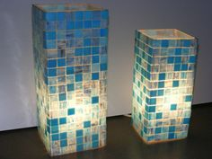 I love this idea for a table.  You tile on plexie glass and grout it.  Make sure the tile is see through and then you put the table together and light it up!
