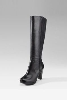 Autograph Leather Knee High Block Platform Boots [T02-1802-S-NWIT] : Autograph Marks and Spencer's Outlet £54.00