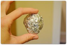 Use a ball of foil to create the cheapest dryer sheet ever.
