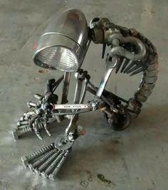 Abstrakte Industrie Lampe im Steampunk Design