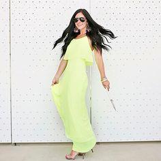 NWT neon maxi dress NWT neon maxi dress - such a pretty dress! Gianni Bini Dresses Maxi