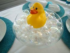 bath time baby shower theme - table decoration
