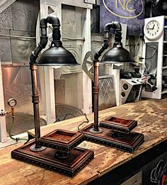 pipe lamp for sale Pipe Lighting, Industrial Lighting, Cool Lighting, Chandelier Lighting, Industrial Style, Pvc Pipe Crafts, Usb Lamp, Galvanized Pipe, Lamps For Sale
