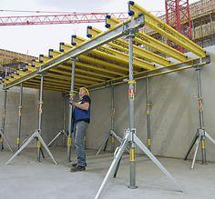 Dokaflex 30 tec - Coffrage de dalles by DOKA Concrete Formwork, Concrete Blocks, Concrete Forms, Civil Engineering Design, Civil Engineering Construction, Framing Construction, Construction Tools, Construction Sector, Steel Structure Buildings