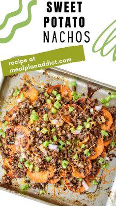 Dinner Ideas, Dinner Recipes, Sweet Potato Nachos, 30 Minute Dinners, Skinny Taste, Quick Meals, Meal Prep, Meal Planning, Delish