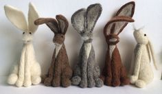 2 x needle felt hare kits special offer by FeltHoppy on Etsy