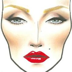 Marilyn Monroe's Classic Look. MAC Makeup face charts for Halloween.