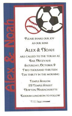 Yankees Bar Mitzvah Formal Invitation WwwKjpaperieCom  Kj