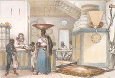Debret, Jean Baptiste (1768-1848), Boutique de boulanger. Brasil, 1834-1839 (pormenor).