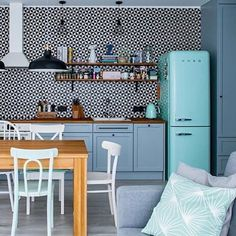 For The Love Of Blue On Instagram: U201cItu0027s No Secret That I Adore Smeg.  Bringing Colour And Life To Otherwise Boring Kitchens.