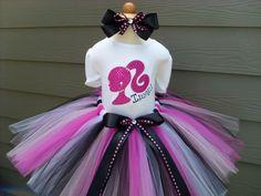 Custom Tutus BARBIE SILHOUETTEwith NAMEsize by fairyfashions, $65.00