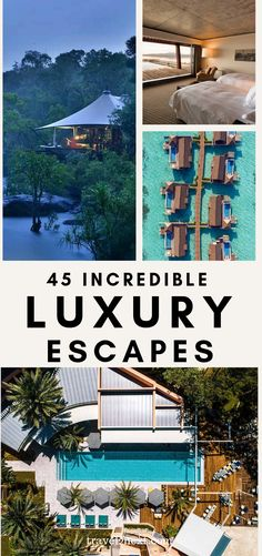 43 Luxury Escapes For Your Bucket List. How about escaping to the Maldives or Patagonia or Cambodia? Bucket List Destinations, Travel Destinations, Holiday Destinations, Travel Guides, Travel Tips, Travel Advice, Travel Plan, Travel Packing, Time Travel