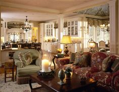 Traditional Family Room Design, Pictures, Remodel, Decor and Ideas - page 19 ~COZY~