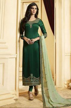 A Bunch Of Silk Embroidered Designer Evening Wear Salwar Suit Set Churidar Suits, Salwar Kameez, Patiala, Ethnic Outfits, Indian Outfits, Silk Suit, Embroidery Suits, Indian Ethnic Wear, Indian Designer Wear