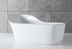 Curved Two-Person Tubs : Two Person Tub Contemporary Bathtubs, Modern Bathtub, Freestanding Bathtub, Zen Furniture, Furniture Design, Simple Bathroom, Master Bathroom, Bathroom Mirrors, Bathroom Cabinets