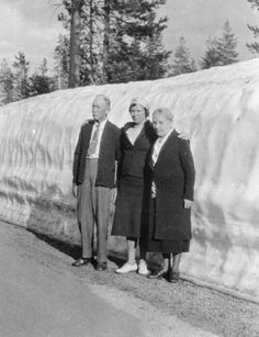 Laura and Almanzo Wilder with ? Yellowstone National Park 1938.