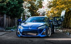 Download wallpapers Toyota GT86, 2017, Japanese sports car, sports coupe, blue GT86, tuning, new Japanese cars, Toyota