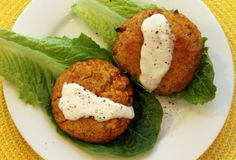 A Cambridge Story, Red lentil cakes with romaine and yogurt sauce