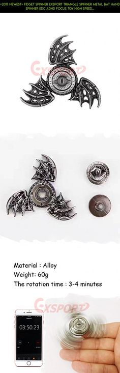 [2017 Newest] Fidget Spinner EXSPORT Triangle Spinner Metal Bat Hand Spinner EDC ADHD Focus Toy High Speed Relieving ADHD, OCD , Anxiety, Stress (Silver) #kit #spinner #drone #shopping #money #camera #fpv #racing #technology #products #gadgets #plans #parts #metal #tech