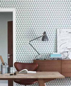 · EmPAPELados RETRO ·  Viaja al pasado más trendy con papeles de pared de motivos geométricos. #tendencia #decoración #homedecor #interiorismo