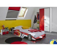 Rocket Børneseng - Rød børneseng formet som bil