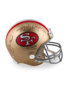 Joe Montana And Dwight Clark Dual Signed Authentic San Francisco 49ers Helmet