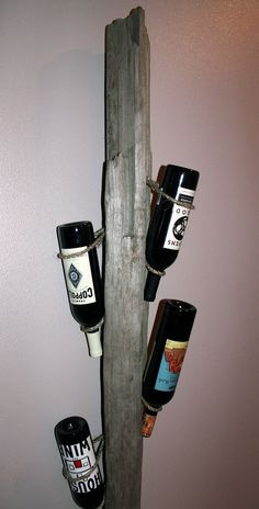 Handmade Drift Wood Wine Rack - Great Gift for Wine Lovers. $49.00, via Etsy.