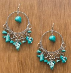 M&F Products® Turquoise Rock Chandelier Earrings | Cavender's