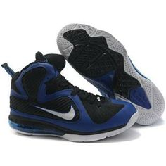 b3ae4ef4baf www.anike4u.com  Cheap Nike Lebron 9 Shoes White Black Blue Lebron 9