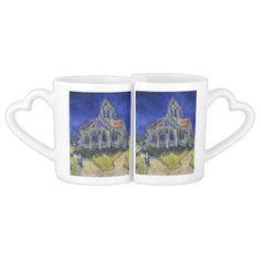 Church in Auvers-sur-Oise by Vincent Van Gogh Couple Mugs