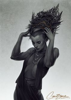 Tithe by Charlie-Bowater.deviantart.com on @deviantART  Love the small touches of colour