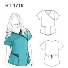 We go green, the color of spring! Cute Scrubs Uniform, Scrubs Outfit, Dress Patterns, Sewing Patterns, Nurse Costume, Outfit Trends, Medical Scrubs, Fashion Design Sketches, Trendy Fashion