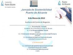 Jornada Sostenibilidad Puerto de Alicante. Medio Ambiente COEPA (3 de Marzo).